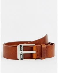 Cintura in pelle marrone chiaro di Diesel