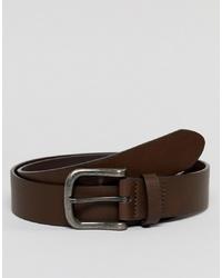 Cintura in pelle marrone scuro di ASOS DESIGN