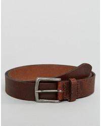 Cintura in pelle marrone scuro di Asos