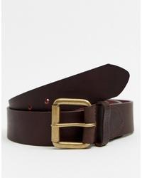 Cintura in pelle marrone scuro di Barbour