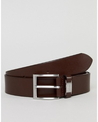 Cintura in pelle marrone scuro di BOSS