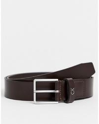 Cintura in pelle marrone scuro di Calvin Klein
