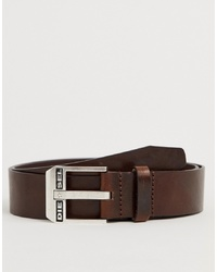 Cintura in pelle marrone scuro di Diesel