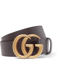 Cintura in pelle marrone scuro di Gucci