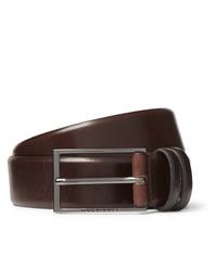 Cintura in pelle marrone scuro di Hugo Boss