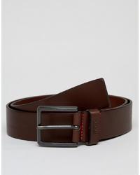 Cintura in pelle marrone scuro di Hugo
