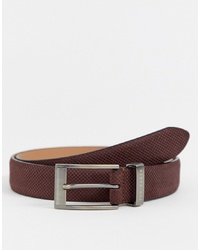 Cintura in pelle marrone scuro di Ted Baker