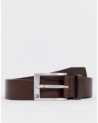 Cintura in pelle marrone scuro di Tommy Hilfiger