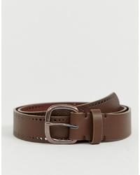 Cintura in pelle marrone di ASOS DESIGN