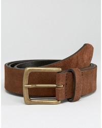 Cintura in pelle marrone di Asos