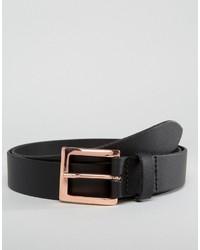 Cintura in pelle nera di Asos