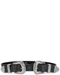 Cintura in pelle nera di B-Low the Belt