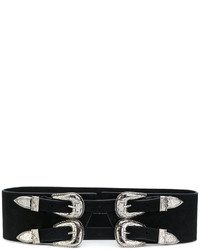 Cintura in pelle nera di B-Low the Belt