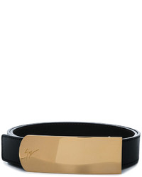 Cintura in pelle nera di Giuseppe Zanotti Design