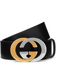 Cintura in pelle nera di Gucci