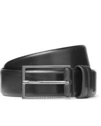 Cintura in pelle nera di Hugo Boss