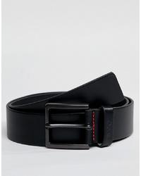 Cintura in pelle nera di Hugo
