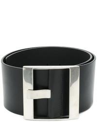 Cintura in pelle nera di Maison Margiela