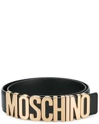 Cintura in pelle nera di Moschino