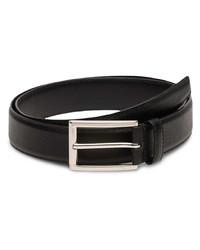 Cintura in pelle nera di Prada