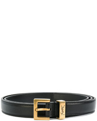 Cintura in pelle nera di Saint Laurent