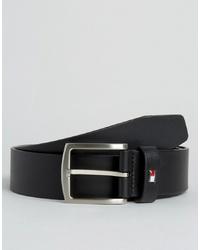 Cintura in pelle nera di Tommy Hilfiger