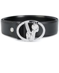 Cintura in pelle nera di Versace