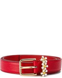 Cintura in pelle rossa di Dolce & Gabbana