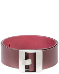 Cintura in pelle rossa di Maison Margiela