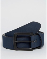 Cintura in pelle scamosciata blu scuro di Asos