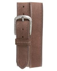 Cintura in pelle scamosciata marrone