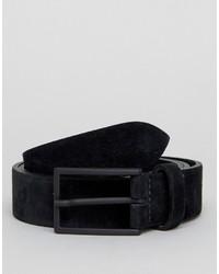 Cintura in pelle scamosciata nera di Asos