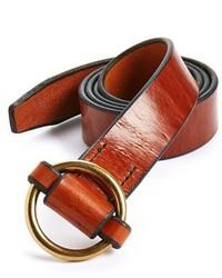 Cintura in pelle terracotta