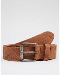 Cintura in pelle terracotta di Asos