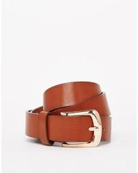 Cintura in pelle terracotta di Vero Moda