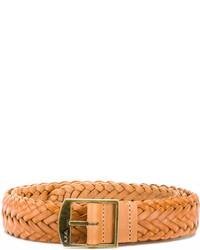 Cintura in pelle tessuta marrone chiaro di A.P.C.