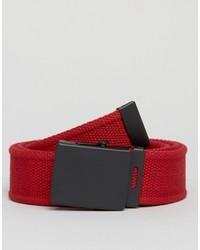 Cintura tessuta rossa di Asos