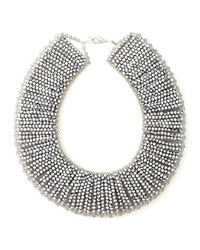 Collana con perline argento