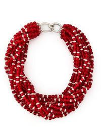 Collana con perline rossa