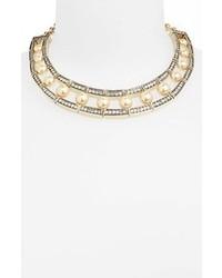 Collana di perle beige