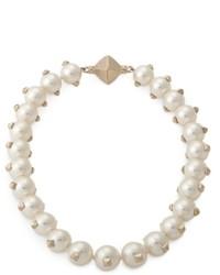 Collana di perle bianca