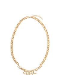 Collana dorata di Comme Des Garçons Girl