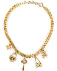Collana dorata di Moschino