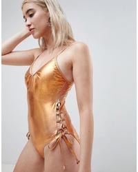 Costume da bagno dorato di Pieces