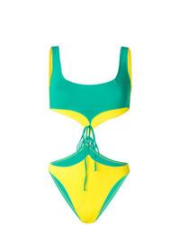 Costume da bagno tagliato verde di Sian Swimwear