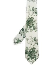 Cravatta a fiori beige