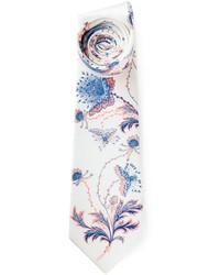 Cravatta a fiori bianca
