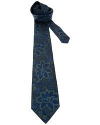 Cravatta a fiori blu scuro