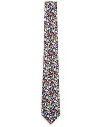 Cravatta a fiori multicolore