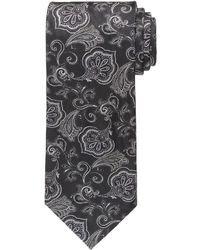Cravatta a fiori nera